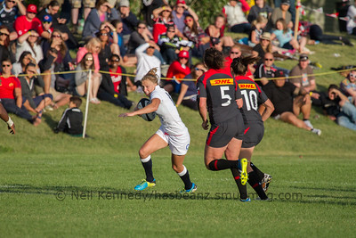 Emily Scott with the ball