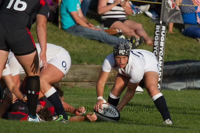 Bianca Blackburn collects the ball