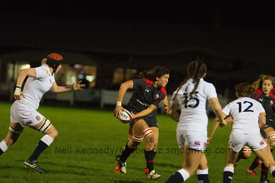Cindy Nelles (Capt) with the ball