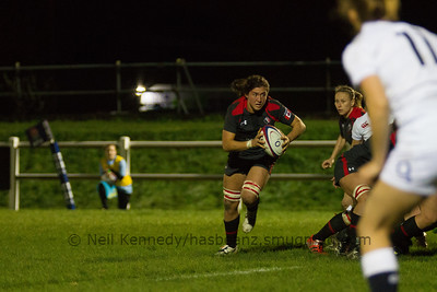 Cindy Nelles with the ball