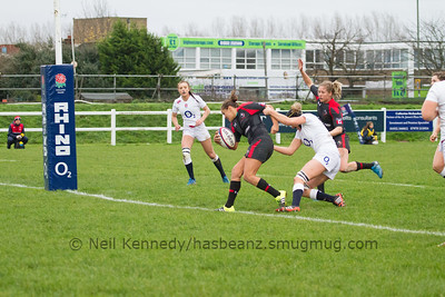 Mackenzie Higgs scores a try scores a try