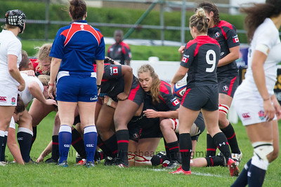 Flanker Katie Svoboda at the scrum