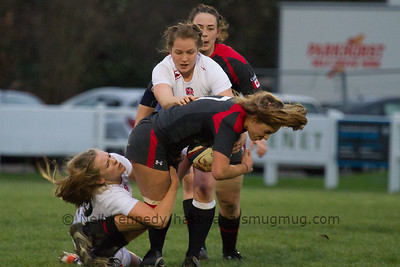 Katie Svoboda is tackled