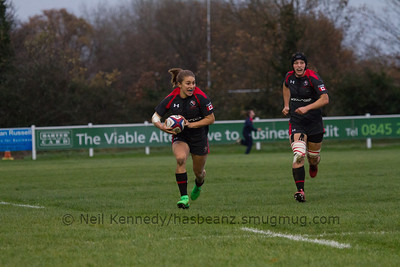Frederique Rajotte with the ball