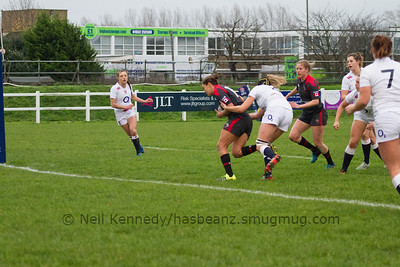 Mackenzie Higgs with the ball