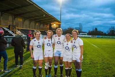 Worceter RFC girls: Lark Davies, Kelly Smith, Courtney Gill, Bianca Blackburn, Rachel Lund