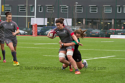 Sioned Harries is tackled