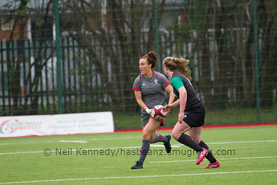 Bethan Dainton with the ball