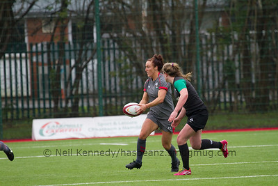 Bethan Dainton with the ball passing