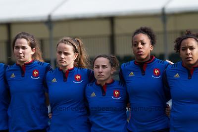 L to R Coralie Bertrand (22), Camille Imart (21), Laure Sansus (20), Julie Annery (19)
