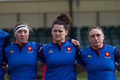L to R Julie Duval (3), Lise Arricastre (1), Gaelle Mignot (2, C)