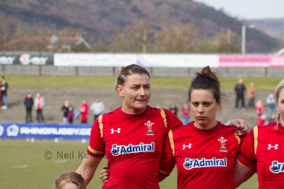 Rachel Taylor (Dragons / Caernarfon - Captain), Sioned Harries (Whitland /Scarlets)