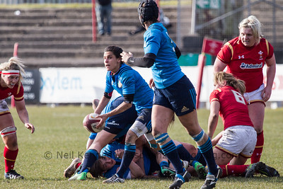 Sara Barattin (Rugby Casale - Capitano) passing