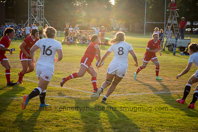 Erin Geddes waits for the pass