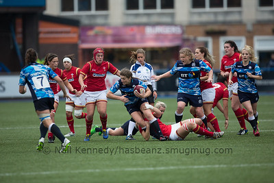Helen Nelson is tackled