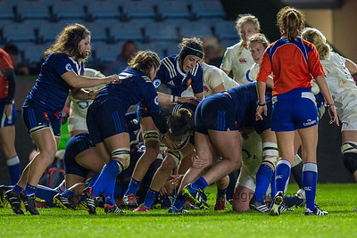 French forwards at work: Lisa Arricastre, Manon Bigot, Celine Ferer