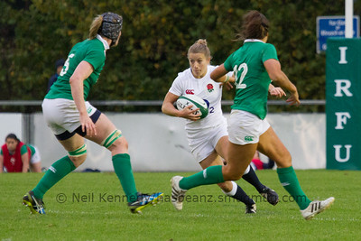 Fiona Pocock with the ball
