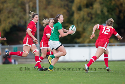Nikki Caughey withh the ball