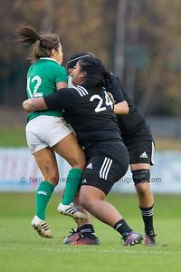 Sene Naoupu with the ball is tackled by Aotearoa Mata'u