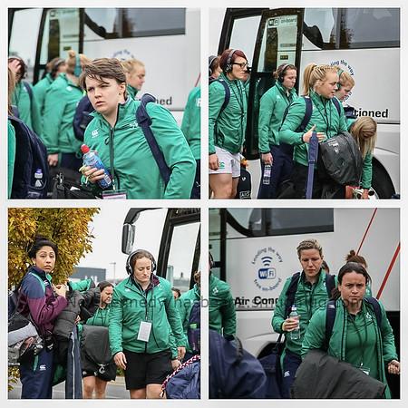 Ireland arrive at UCD Bowl