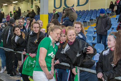 Claire Molloy selfie with fans