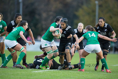 Angie Sisifa with the ball
