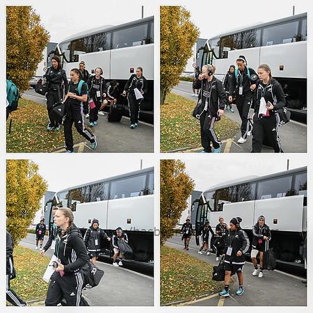 Black Ferns arrive at UCD Bowl