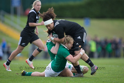 Charmaine McMenamin is double tackled