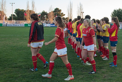 Spain Women vs Wales Women 14th January 2017, Club de Rugby La Vila , Spain