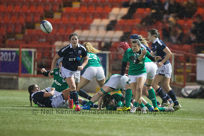 Mary Healy passes the ball from the breakdown