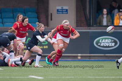 Natasha Hunt throws a long pass