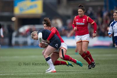 Robyn Wilkins tackles Natasha Hunt