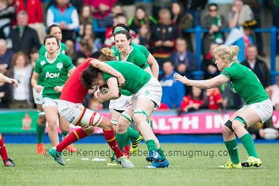 Ciara Griffin is tackled by Rachel Taylor