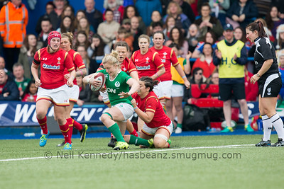Sioned Harries tackles Claire Molloy