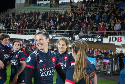 Caroline Ladagnous smiling after the game