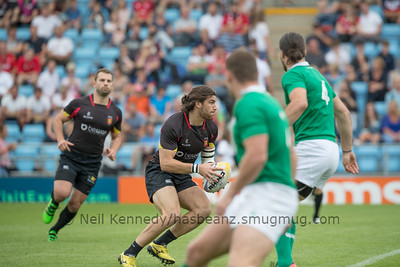 Ireland 40 vs 7 Belgium, Match 7, Pool A, 15 Jul 2017 14:15 Rugby Europe Mens Grand Prix 7s - Round 4 of 4, Sandy Park, Exeter, England