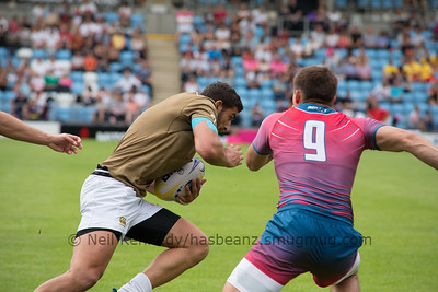Russia 5 vs 7 Georgia, Match 9, Pool B, 15 Jul 2017 14:59 Rugby Europe Mens Grand Prix 7s - Round 4 of 4, Sandy Park, Exeter, England