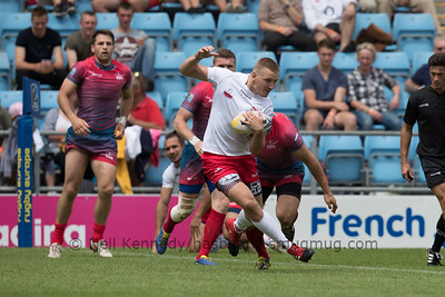 Russia 34 vs 0 Poland, Match 3, Pool B, 15 Jul 2017 12:14 Rugby Europe Mens Grand Prix 7s - Round 4 of 4, Sandy Park, Exeter, England