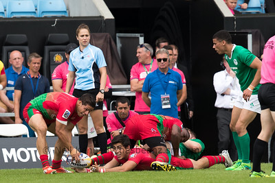 Ireland 36 vs 7 Portugal, Match 1, Pool A, 15 Jul 2017 11:30 Rugby Europe Mens Grand Prix 7s - Round 4 of 4, Sandy Park, Exeter, England