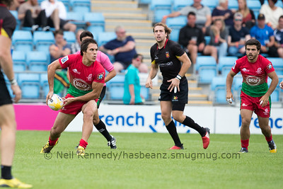Belgium 12 vs 17 Portugal, Match 14, Pool A, 15 Jul 2017 17:22 Rugby Europe Mens Grand Prix 7s - Round 4 of 4, Sandy Park, Exeter, England
