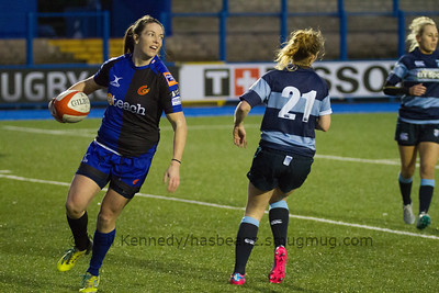 Ceri Bailey has scored a try