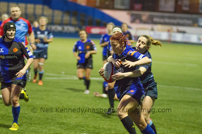 Game 2 Blues v Dragons - Welsh Women's Regional Round 3, Cardiff Arms Park  20th December 2015