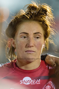 Bethan Dainton at the post match team talk
