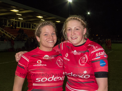 Paula Robinson and Chelsey Snead after the game
