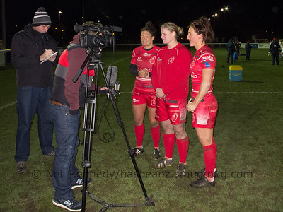 Post match interview for Gemma Rowland, Bianca Dawson and Bethan Dainton
