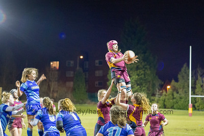 Lineout catch by Chloe Davies
