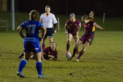 Joanne Jones kicks for points