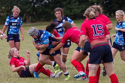 Lana Skeldon advances with the ball