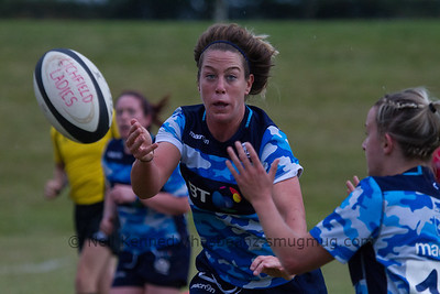 Caroline Collie with the ball passing