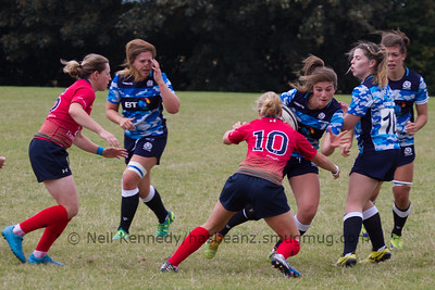 Helen Nelson with the ball